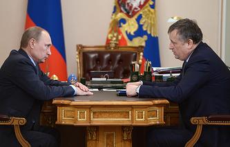 Владимир Путин и Александр Дрозденко. 2014 год