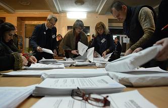 Подсчет голосов на выборах главы ДНР