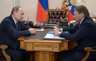 России Владимир Путин и уполномоченный при президенте РФ по защите прав предпринимателей Борис Титов