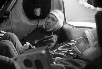 """Члены экипажа космического корабля """"Союз-9"""" Виталий Севастьянов и Андриян Николаев, 1970 год"""