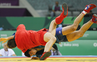 Соревнования по самбо среди мужчин на I Европейских играх в Баку