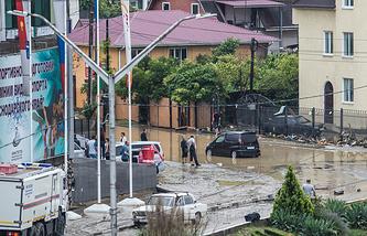 Последствие наводнения в Сочи