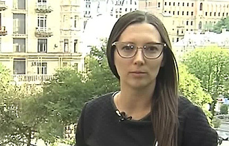 Корреспондент Первого канала Александра Черепнина