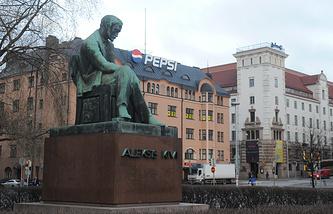Финляндия. Хельсинки. Привокзальная площадь