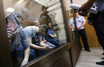 Анатолий Круглов, Алексей Трофимов, Валерий Башкатов и Юрий Гордов (слева направо) в Дорогомиловском суде