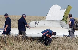 На месте падения Boeing 777 в Донецкой области, 1 августа 2014 года