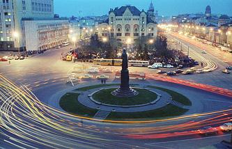 1990 год. Памятник Феликсу Дзержинскому