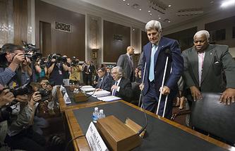 Госсекретарь США Джон Керри на слушаниях в комитете по иностранным делам Сената Конгресса США