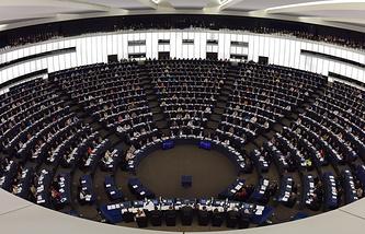 Заседание Европарламента в Страсбурге