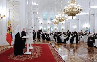 Прием в Кремле по случаю 1000-летия преставления святого князя Владимира
