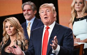 Дональд Трамп на съемках шоу The Celebrity Apprentice