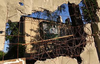 Последствия обстрелов ДНР