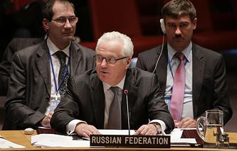 Постоянный представитель РФ при всемирной организации Виталий Чуркин
