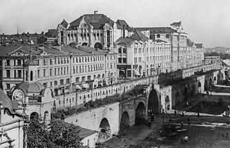 Старая Москва. Китайгородская стена со стороны Новой площади. 1926 год