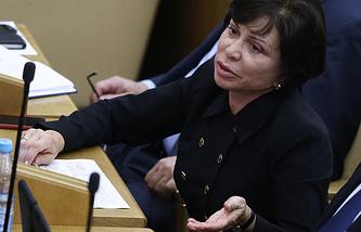 Ирина Роднина на пленарном заседании Государственной Думы РФ