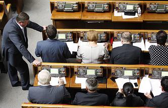 Во время заседания Верховной рады