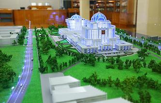Макет проекта Парламентского центра в Мневниках