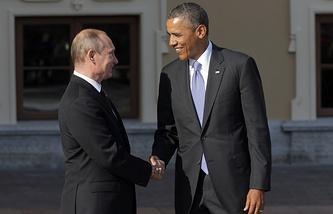 Владимир Путин и Барак Обама, 2013 год