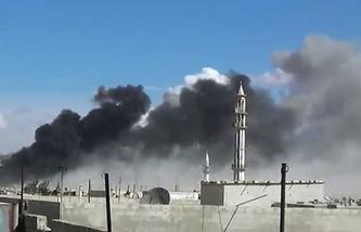 Авиаудары в провинции Хомс