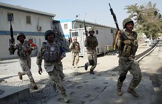 Военнослужащие Афганистана во время учений