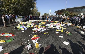 На месте теракта в Анкаре. Архив