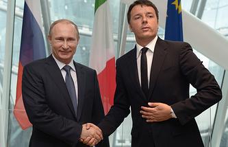 Президент России Владимир Путин и премьер-министр Италии Маттео Ренци