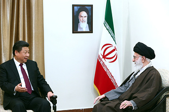 председателем КНР Си Цзиньпинь и духовный лидер Ирана аятолла Али Хаменеи