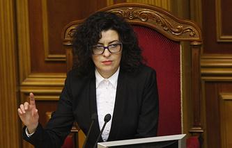 Вице-спикер Верховной рады Оксана Сыроед