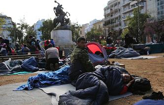 Мигранты в Афинах, Греция