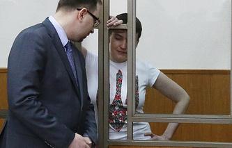 Надежда Савченко и адвокат Николай Полозов