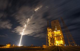 Ракета-носитель Atlas V во время стартовала с пускового комплекса базы ВВС США на мысе Канаверал