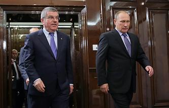 Томас Бах и Владимир Путин