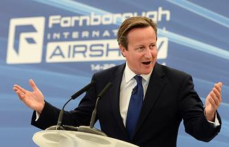 Дэвид Кэмерон на Международном авиасалоне в Фарнборо