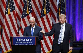 Майкл Пенс и Дональд Трамп