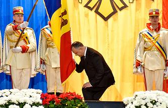 Игорь Додон во время церемонии инаугурации, 23 декабря
