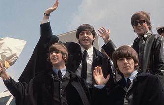 Джон Леннон, Джордж Харрисон, Пол Маккартни и Ринго Старр, 1964 год