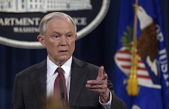 Министр юстиции, генеральный прокурор США Джефф Сешнс