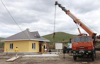 Строительство жилых домов для жителей Республики Хакасия, пострадавших от природных пожаров, 2015 год