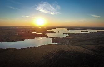 Вид на реку Волгу