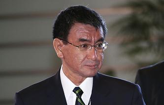 Новый глава МИД Японии Таро Коно