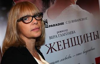 """Вера Глаголева перед премьерой своего фильма """"Две женщины"""", 2015 год"""