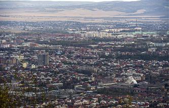 Вид на город Владикавказ