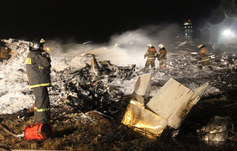 На месте крушения самолета Boeing 737 в аэропорту Казани, 2013 год
