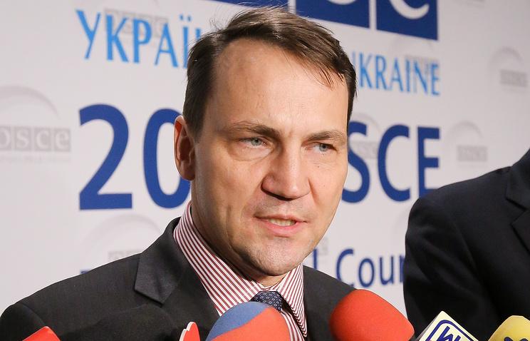 Poland's Foreign Minister Radoslaw Sikorski