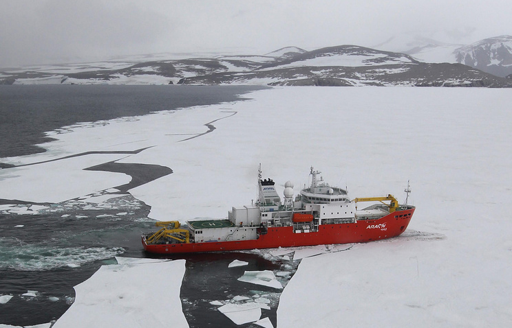 The Araon, a South Korean icebreaker
