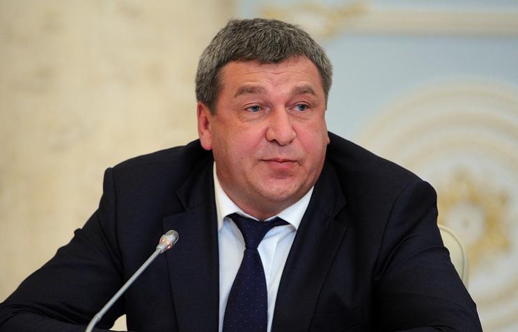 Russia's Regional Development Minister Igor Slyunyayev