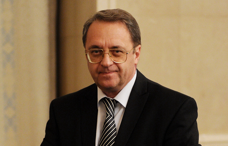 Russia's Deputy Foreign Minister Mikhail Bogdanov