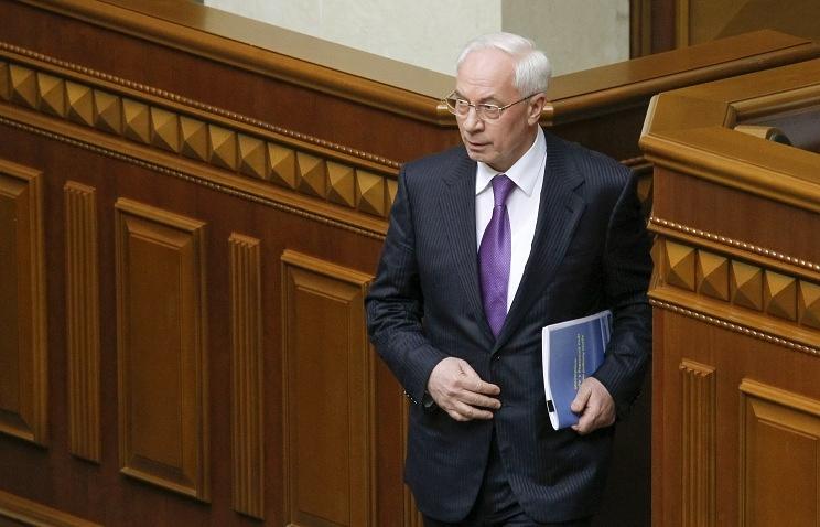 Ukraine's Prime Minister Nikolai Azarov