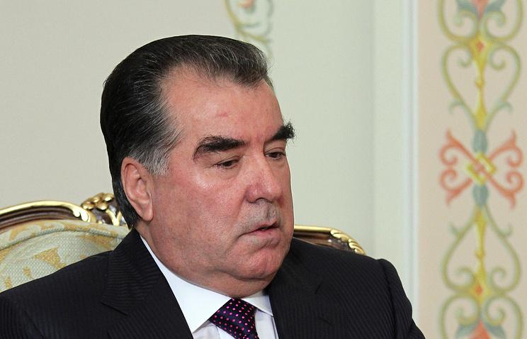 Tajikistan's President Emomali Rakhmon