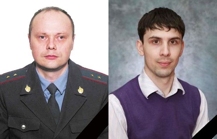 Warrant Officer of Police Sergei Bushuyev and teacher Andrei Kirillov